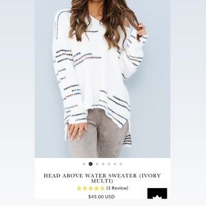 Head above water sweater